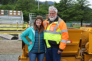 Jerry Harmon, one of the founders of Gold Rush Days, and I posing for a quick picture in between events.